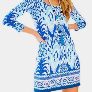 Lilly Pulitzer Beacon Blue Floral Dress NEW